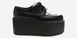 Underground Original Wulfrun Creeper black and white leather shoe for men and women