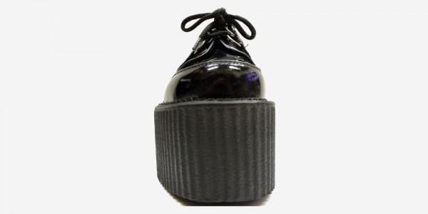 Underground Original Wulfrun Creeper black patent leather shoe for men and women