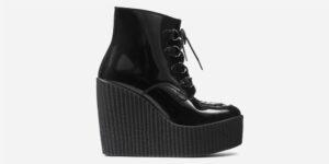 Underground Original Wulfrun Creeper boot black patent leather wedge for men and women