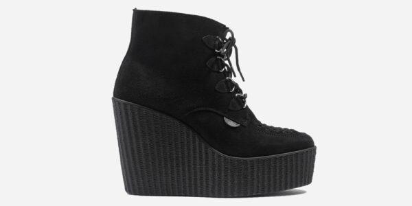 Underground Original Wulfrun Creeper boot black suede leather wedge for men and women