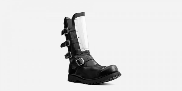 Underground Original Warrior Creeper steel toe cap boot black leather with metal plate for men and women