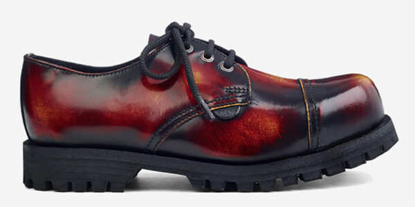 Underground England Tracker sunburst leather rub-off leather steel toe cap leather shoe for men and women