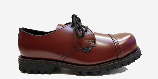 Underground England Tracker steel toe cap cherry leather shoe for men and women