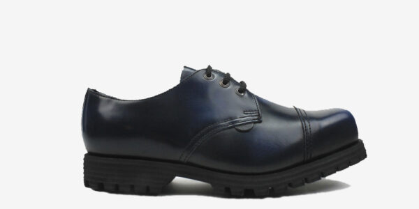 Underground England Tracker navy steel toe cap leather shoe for men and women