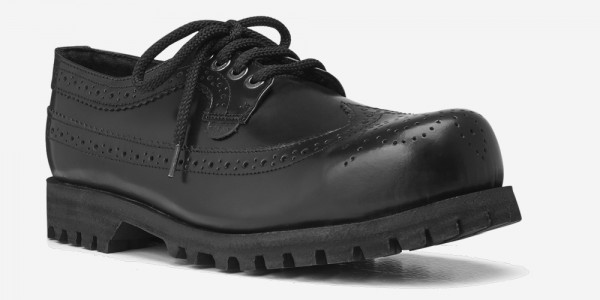 Underground England Tracker steel toe cap brogue black leather shoe for men and women