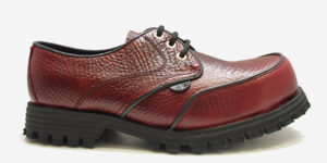 Underground England Mud Guard steel toe cap burgundy leather shoe for men and women