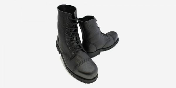 Underground Original Steel Cap Stormer black tumbled leather combat boot for men and women