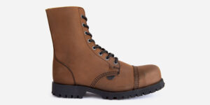 brown steel cap boot