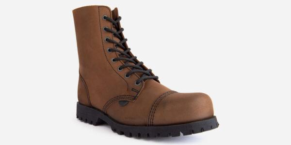 brown steel cap boot