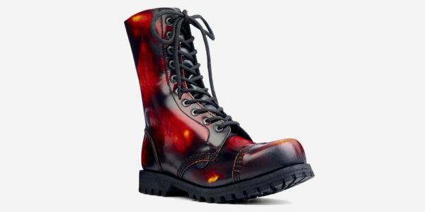 Underground Original Steel Cap Commando sunburst rub-off leather combat boot for men and women