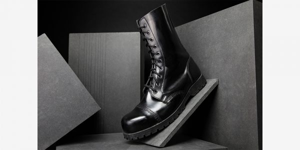 Underground Original Steel Cap Commando Black leather combat boot for men and women