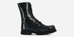 Underground Original Steel Cap Commando navy rub-off leather combat boot for men and women