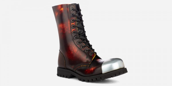 Underground Original External Steel Cap Commando sunburst rub-off leather combat boot for men and women