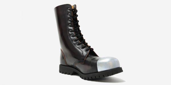 Underground Original External Steel Cap Commando purple rub-off leather combat boot for men and women