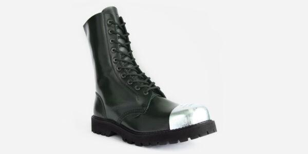 green steel cap boot