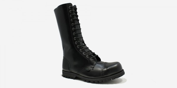 Underground Original Steel Cap Ranger black leather combat boot for men and women