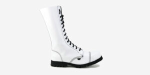 Underground Original Steel Cap Ranger white leather combat boot for men and women