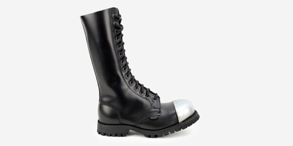 Underground Original Steel Cap Ranger black leather external cap combat boot for men and women