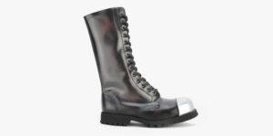 Underground Original Steel Cap Ranger burgundy rub-off leather external cap combat boot for men and women