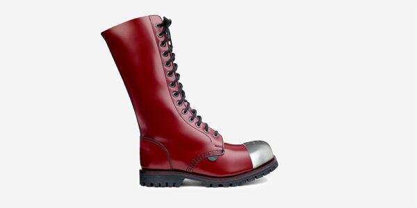 Underground Original Steel Cap Ranger cherry leather external cap combat boot for men and women