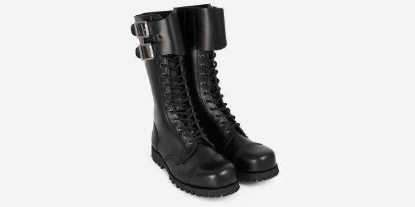 Underground Original Steel Cap Ranger Black leather two buckle combat boot for men and women