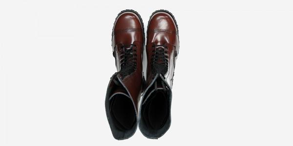 Underground Original Steel Cap Gripper cherry leather knee length combat boot for men and women