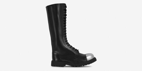Underground Original external Steel Cap Gripper black leather knee length combat boot for men and women