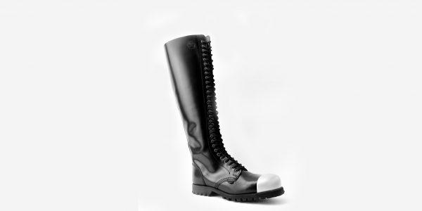 Underground Original external Steel Cap Para black leather knee length combat boot for men and