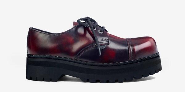 Underground England Original Tracker steel toe cap burgundy rub-off leather shoe for men and women