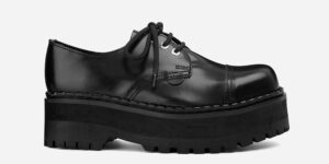 Steel cap shoe - black leather