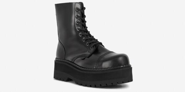 Underground Original Steel Cap Stormer Black leather combat boot for men and women