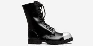 steel cap bootsteel cap boot steel cap boot COMMANDO – 10 EYELET EXTERNAL STEEL CAP BOOT – BLACK LEATHER – SINGLE SOLE