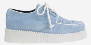 Underground Original Wulfrun Creeper sky blue suede with white sole shoe for men and women