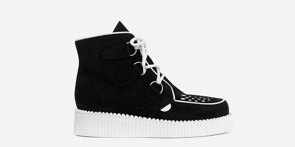 Underground Original Wulfrun Creeper suede leather boot with white sole for men and women