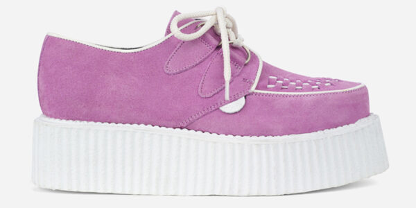 Underground Original Wulfrun Creeper lilac suede shoe with white sole for men and women