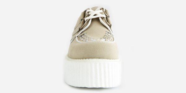 Underground Original Wulfrun Creeper bone suede shoe with white sole for men and women