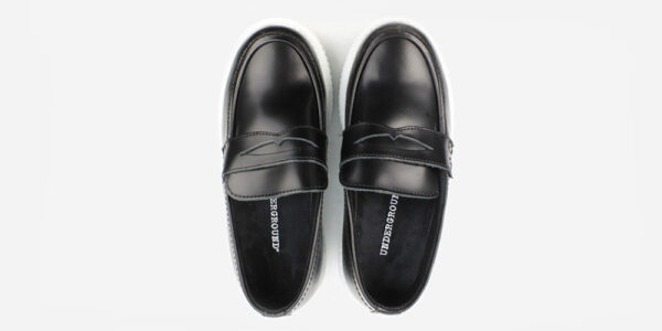 CREEPER LOAFER – BLACK BOX LEATHER – WHITE DOUBLE SOLE