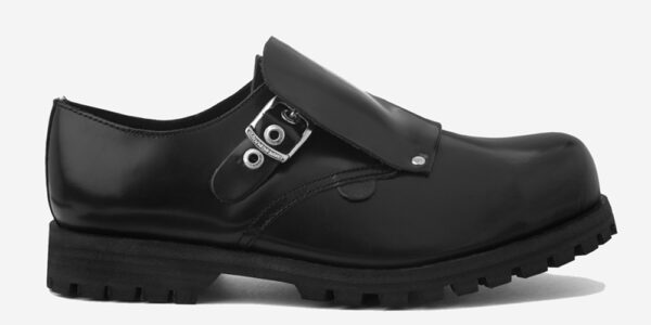 Underground England Tracker Steel toe cap black leather with buckle shoe for men and women