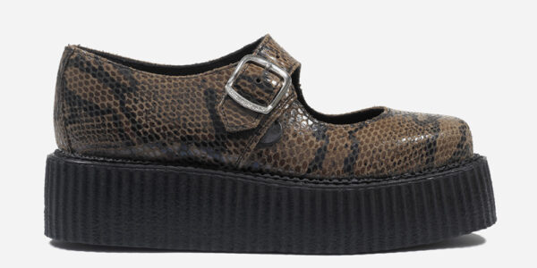 Original Underground natural snake embossed Leather shoe for Men and Women