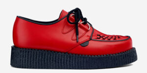 UNDERGROUND ORIGINAL WULFRUN CREEPER – RED LEATHER – SHOES FOR MEN AND WOMEN