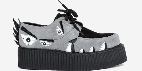 Underground Original Snapper Wulfrun Creeper black and grey suede shoe for men and women