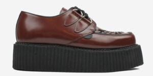 Underground Original Wulfrun Creeper cherry leather and shoe for men and women