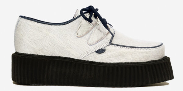 Underground Original Wulfrun Creeper white pony hair shoe for men and women