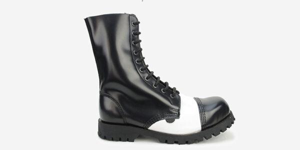 Underground Original Steel Cap Commando Black and white leather combat boot for men and women