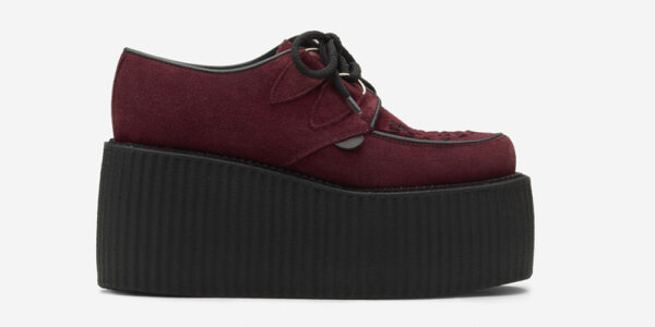 Underground Original Wulfrun Creeper burgundy suede leather shoe for men and women