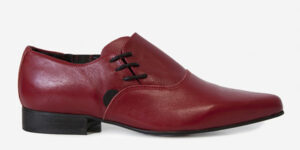 Underground England Henry Winklepicker red oxblood grain leather side lace up shoe for men and women