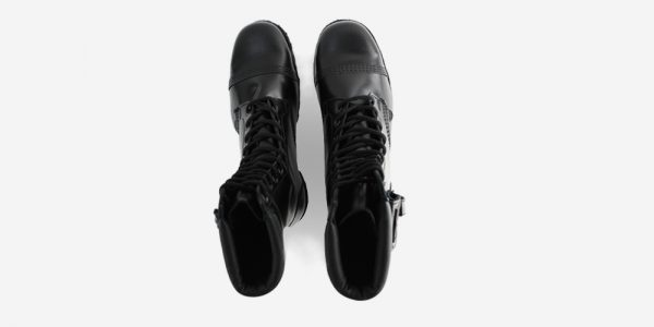 Underground Original Steel Cap Commando Black leather combat boot with pocket detail for men and women