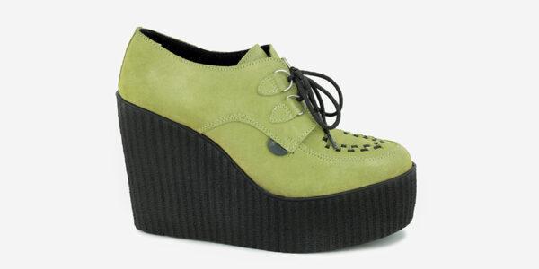 Underground Original Wulfrun Creeper suede leather apple green wedge for men and women
