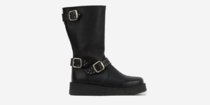 UNDERGROUND CREEPER ENGINEER BOOT – BLACK LEATHER & TUMBLED LEATHER – SHOES FOR MEN AND WOMEN