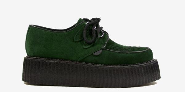 Underground Original Wulfrun Creeper dark green suede shoe for men and women